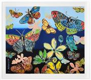 Sale 8401 - Lot 529 - David Bromley (1960 - ) - Butterflies 77 x 91cm