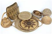 Sale 8422 - Lot 35 - Cane Buka & Tribal Woven Wares