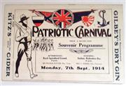 Sale 8639 - Lot 14 - Grand Patriotic Carnival  Souvenir Programme Monday 7th September 1914, 24 pages plus covers, Sporting and Cultural (peculiarly Aust...