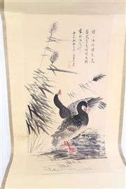 Sale 8802 - Lot 152 - Zhang Dr Qian double duck scene Chinese scroll