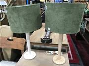 Sale 8817 - Lot 1048 - Pair of Table Lamps with Green Shades