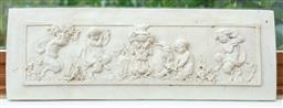 Sale 9134H - Lot 28 - A composite wall plaque with cherub frieze, 14cm x 42cm