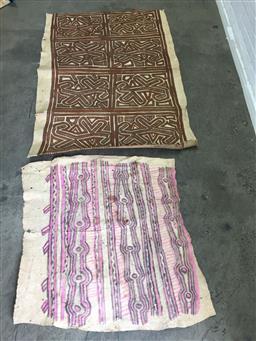 Sale 9137 - Lot 1008 - 2 Tapa Cloths, various sizes: 125x191cm; 110x117cm