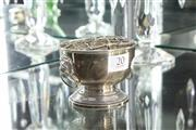 Sale 8288 - Lot 20 - Dunhill Silver Flower Frog