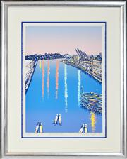 Sale 8347A - Lot 87 - Wendy Merrington (1957 - ) - Black Wattle Bay, 1993 71 x 52cm