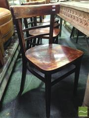 Sale 8412 - Lot 1093 - Set of Six Timber Chairs with Arch Back