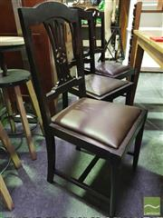 Sale 8418 - Lot 1068 - Set of 6 Dining Chairs w Drop in Seats