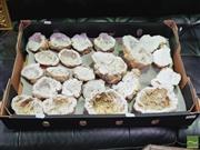 Sale 8424 - Lot 1044 - Box Split African Quartz Geodes