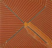 Sale 8459 - Lot 560 - Kathleen Petyarre (1930 - ) - Untitled 131.5 x 120.5cm (stretched & ready to hang)