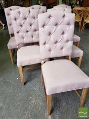 Sale 8495F - Lot 1094 - Set of 6 Latte Fabric Dining Chairs