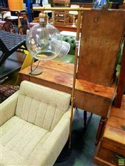 Sale 8648 - Lot 1055 - Modern Glass Shade Floor Lamp
