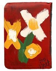 Sale 8665A - Lot 5011 - Kevin Charles (Pro) Hart (1928 - 2006) - Flowers 11.5 x 7.5cm