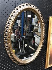 Sale 8816 - Lot 2073 - Gilt Oval Mirror