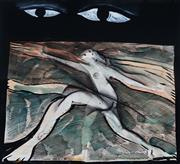 Sale 9013 - Lot 556 - Charles Blackman (1928 - 2018) - Salome, 1986 46.0 x 50.0 cm (frame: 81 x 80 x 4 cm)