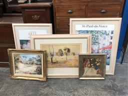 Sale 9139 - Lot 2065 - Collection of art works including decorative prints and original oils and watercolours