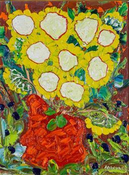 Sale 9191A - Lot 5002 - EVAN MACKLEY (1940 - 2019) Polyanna oil on canvas board 34 x 26 cm (frame: 62 x 53 x 4 cm) signed