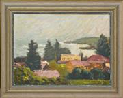 Sale 8358 - Lot 576 - Roland Wakelin (1887 - 1971) - Kiama - Stormy Day, 1949 24 x 33cm