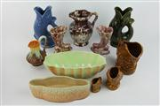 Sale 8391 - Lot 48 - Dartmouth Pottery Devon Gurgling Fish Jugs with Other Ceramics incl Elischer Jugs
