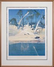 Sale 8427 - Lot 576 - Arthur Boyd (1920 - 1999) - Shoalhaven Series 76 x 59cm
