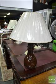 Sale 8489 - Lot 1025 - Pair of Brown Retro Table Lamps (VIN1)