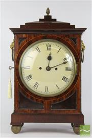 Sale 8516 - Lot 84 - Regency Mahogany Bracket Clock