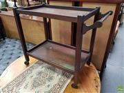 Sale 8611 - Lot 1097 - Vintage Timber Tea Trolley