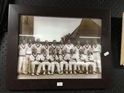 Sale 8750 - Lot 2062 - Photographic Print of the Australian Cricket Team feat. Donald Bradman