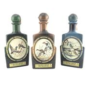 Sale 8911W - Lot 872 - 3x Jim Beam 8YO Kentucky Straight Bourbon Whiskey - James Lockhart decanter set of 3 (waterfowl)