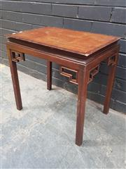 Sale 9026 - Lot 1095 - Chinese Side Table (h:56 x w:57 x d:41cm)