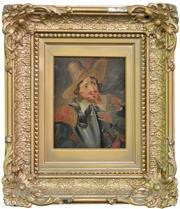 Sale 8518A - Lot 72 - Artist Unknown (XIX) - Portrait of a Spanish Cavalier 15 x 10cm