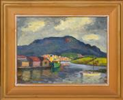 Sale 8358 - Lot 546 - Roland Wakelin (1887 - 1971) - Mt. Wellington - Hobart, TAS, 1960 20 x 33cm