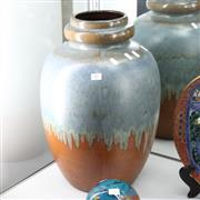 Sale 8362 - Lot 97 - Large West German Drip Glaze Vase
