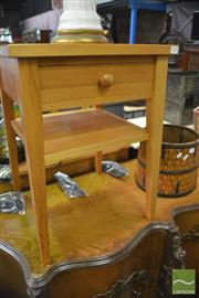 Sale 8386 - Lot 1099 - Pair of Modern Pine Single Drawer Bedsides