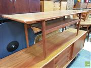 Sale 8451 - Lot 1049 - Good Danish teak coffee table with magazine shelf