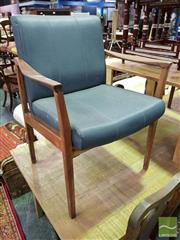 Sale 8545 - Lot 1035 - Pair of Teak Framed Reception Chairs