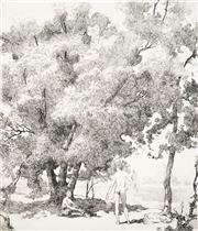 Sale 8592A - Lot 5081 - Adrian Feint (1894 - 1971) - The Bathers 17.5 x 15cm; 44.5 x 34.5cm (sheet size)