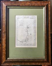 Sale 8625A - Lot 95 - Plan de la Terre de Van Dieman, March 1773, Captain Furneaux, Benard Direx, map size 23 x 16, frame size 48 x 37cm.
