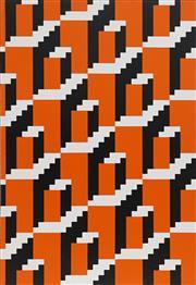 Sale 8708A - Lot 553 - Eugene Carchesio (1960 - ) - Orange Panel 90 x 60cm