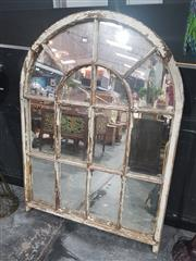 Sale 8760 - Lot 1005 - Timber Framed Arch Shaped Mirror