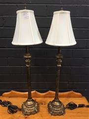 Sale 9006 - Lot 1072 - Pair of French Style Table Lamps (H:80cm)