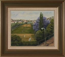 Sale 9111 - Lot 2090 - Artist Unknown - Croquet - most likely Royal Sydney framed size 61 x 70cm