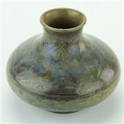 Sale 8387 - Lot 92 - Moorcroft Lustre Glaze Landscape Squat Vase
