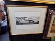 Sale 8474 - Lot 2036 - Mandy Martin (1952 - ) - Untitled, 1992 14.5 x 40cm (frame size: 51.5 x 62cm)