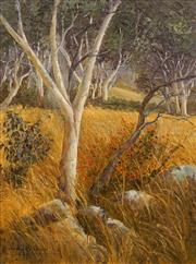 Sale 8665A - Lot 5006 - Murray Bishop (1919 - ) - The Briar Bush and Snow Gums, ACT 49.5 x 37cm
