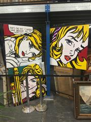 Sale 8707 - Lot 2053 - Set of (3) Roy Lichtenstein (After) Paintings on canvas