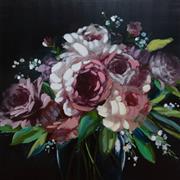 Sale 9070H - Lot 22 - A canvas study of a bouquet, 1m x 1m