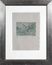 Sale 8427 - Lot 578 - John Olsen (1928 - ) - The River in Spring 11.5 x 17cm