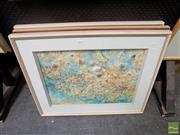 Sale 8474 - Lot 2018 - Essie Nangle (1915 - 2006) (3 works) - Shell Collage 43 x 59cm, each