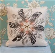 Sale 8500A - Lot 49 - A decorative Feather print 100% Linen cushion - Condition: As New - Size: 45cm