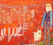 Sale 8583 - Lot 522 - Lyndal Campbell - The Kelly Gang, 2006 110 x 130cm